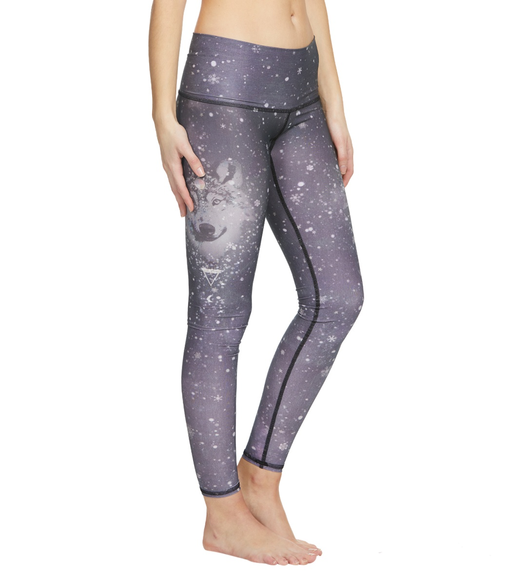 f64c62e981b65 Teeki Run With Wolves Hot Pant Yoga Leggings at YogaOutlet.com - Free  Shipping
