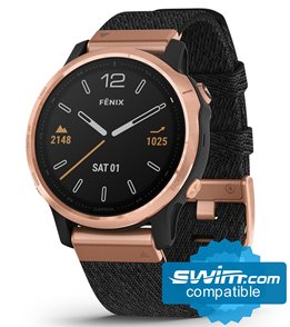 Garmin Fenix 6S Sapphire Rose Gold/ Black Nylon Band