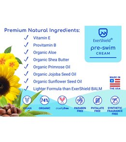 Exershield Pre-Swim Cream 3.2 oz