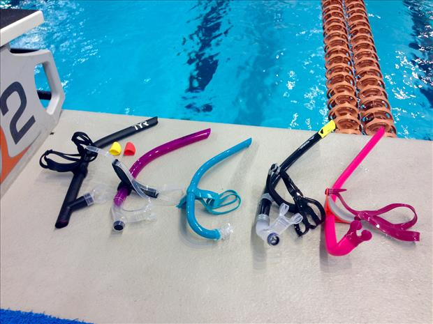 Some long-course triathletes and open water swimmers are required to train  for longer periods of time. With a snorkel d48a1c351