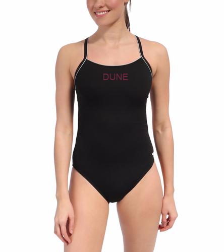 4c76d1e98513b DUNE BLACK TEAM SUIT - Speedo Solid Endurance + Thin Strap Swimsuit ...