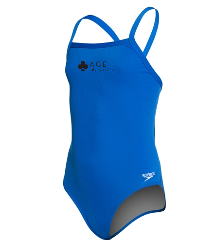 Speedo Girls' Solid Endurance + Flyback Training Swimsuit