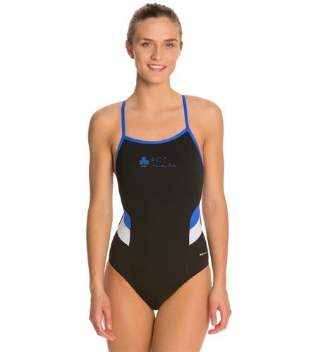 Sporti Poly Pro Splice Thin Strap One Piece Swimsuit