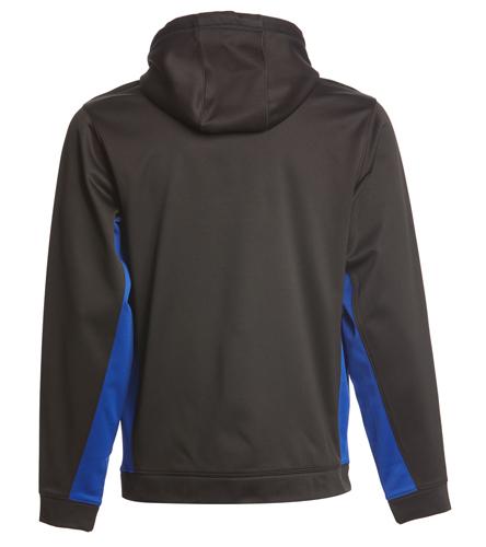 SwimOutlet Sport-Wick® Fleece Colorblock Hooded Pullover