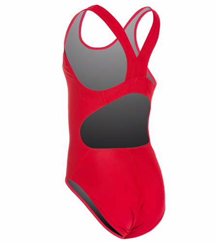 Sporti Solid Wide Strap One Piece Swimsuit Youth (22-28)