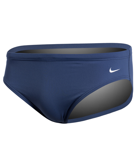 Nike Men's Solid Poly Brief Swimsuit