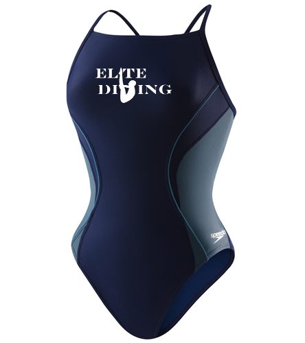 Speedo Women's PowerFLEX Eco Revolve Splice Energy Back One Piece Swimsuit