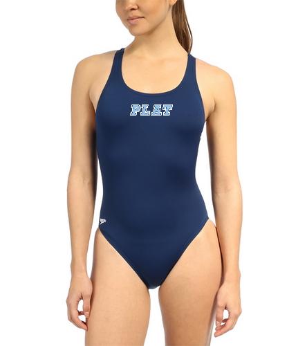 Speedo Women's Solid Endurance+ Super Proback One Piece Swimsuit
