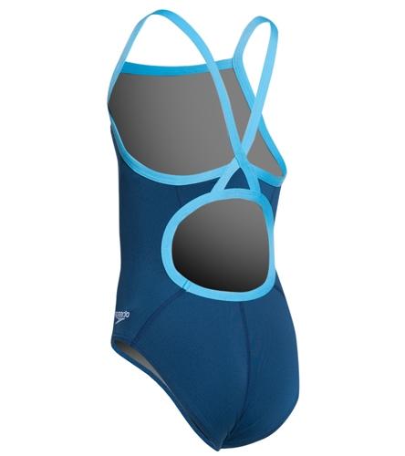 Speedo Girls' Solid Endurance + Flyback Training Swimsuit