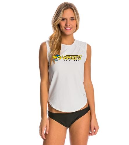 Sporti Women's Solid Sleeveless UPF 50+ Sport Fit Rash Guard
