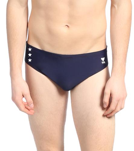 TYR Men's TYReco Solid Racer Brief Swimsuit