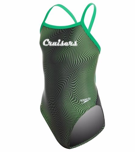 Speedo PowerFLEX Eco Girls' Hydro Amp Flyback One Piece Swimsuit