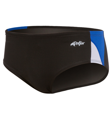 Dolfin Men's Chloroban Color Block Male Racer Brief Swimsuit