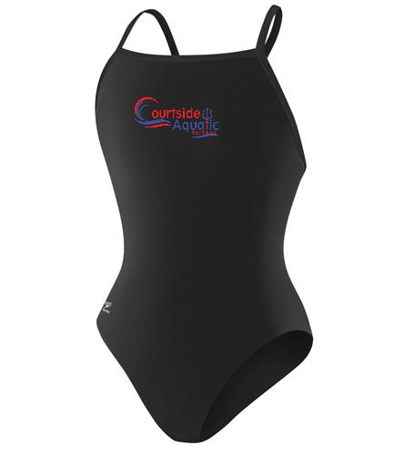 Speedo PowerFLEX Eco Solid Flyback Youth Swimsuit