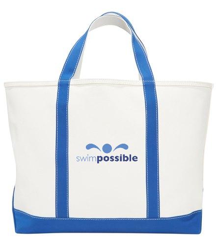 Sporti Zip Top Canvas Beach Tote Bag
