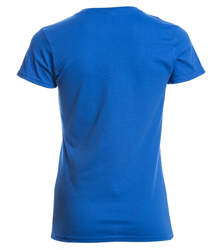 SwimOutlet Women's Cotton V-Neck T-Shirt