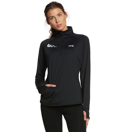 TYR Women's Alliance 1/4 Zip Pullover Warm Up Jacket