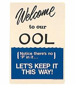 Poolmaster No Peeing Sign