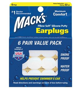 Mack's Pillow Soft Silicone Ear Plugs 6 Pair