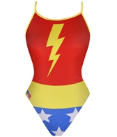 Splish Awesome Girl Red/Yellow/Blue Thin Strap One Piece Swimsuit
