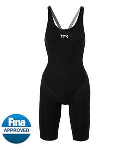 TYR Tracer B-Series Female Short John Tech Suit Black