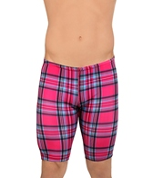 Illusions Pink Plaid Love and Happiness Jammer Swimsuit