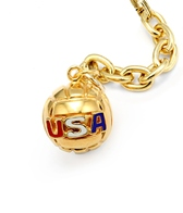 Sports Collection Jewelry Large Water Polo Ball with USA Pendant 14k Gold