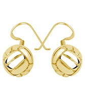 Sports Collection Jewelry Water Polo Ball Dangling Earrings 14k Gold