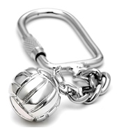 Sports Collection Jewelry Silver Water Polo Ball with USA Rhodium Plated Key Chain