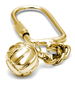 Sports Collection Jewelry Water Polo Ball with USA 14k Gold Key Chain