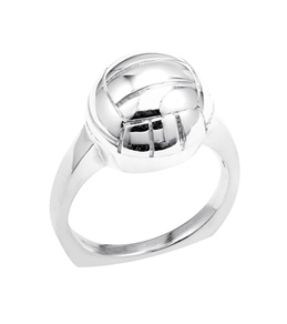 Sports Collection Jewelry Silver Water Polo Ring Rhodium Plated