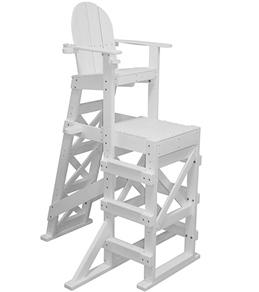 tailwind tall recycled plastic lifeguard chair wside step