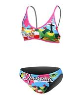 Turbo Rio Pink/Green/Blue Thin Strap Bikini