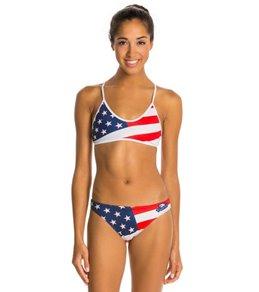 Turbo USA Flag Red/White/Blue Bikini Swimsuit Set