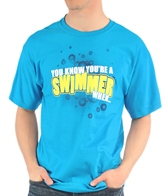 Image Sport You Know You're a Swimmer When-Blue T-Shirt