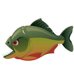 H2O-Toos Swim Tattoos Piranha-Green/Red