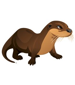 H2O-Toos Swim Tattoos Otter-Brown