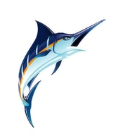 H2O-Toos Swim Tattoos Marlin-Blue