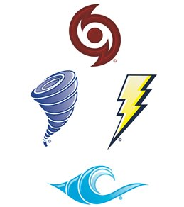 H2O-Toos Swim Tattoos Catch the Wave  Blue/Purple/Yellow/Red