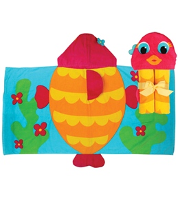Stephen Joseph Kids' Fish Hooded Towel