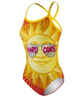 HARDCORESPORT Women's Shades Yellow Cali Back One Piece Swimsuit