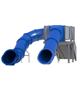 Spectrum Double Flume Right Hand Stairs Pool Slide
