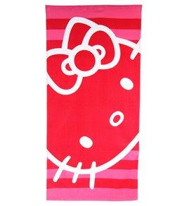 JP Imports Hello Kitty Hot Pink Stripe Towel
