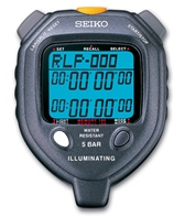 Seiko LED Light Display 100-Lap Memory Stopwatch