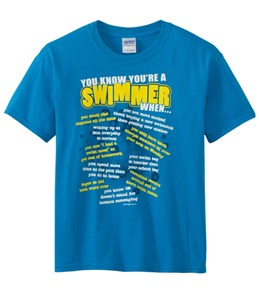 Image Sport Youth 'You Know You're a Swimmer When'-Blue T-Shirt