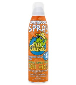 Aloe Gator SPF 50 Lil Gator Continuous Spray 6 oz Sunscreen