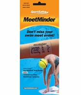 Take Your Mark MeetMinder Swim Meet Event Tracking Temporary Tattoo Black