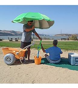 Wheeleez Inc Beach Umbrella