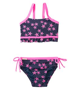 98 Coast Av. Girls' Crazy Pink Star Bikini Set (6-24mos)