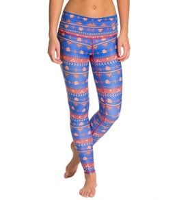 Teeki Choose Roses Blue Yoga Leggings